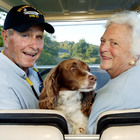 Barbara Bush and Her Dogs Had Matching Tracksuits and It Was 🔥