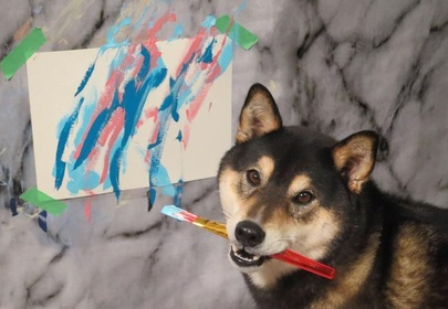 Can haz art? Check Out this Dog Who Can Paint!