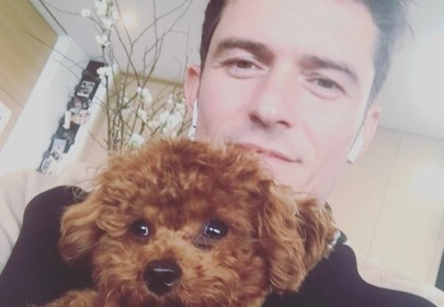 Video of Orlando Bloom playing with puppy is straight fire