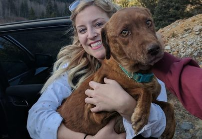 Dog rescued from an abandoned mining shaft has happy ending