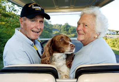 Barbara Bush and Her Dogs Had Matching Tracksuits and It Was 