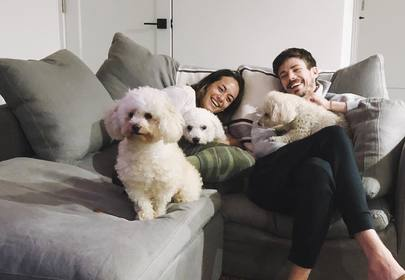 Grant Gustin and LA Thoma Get A New Puppy