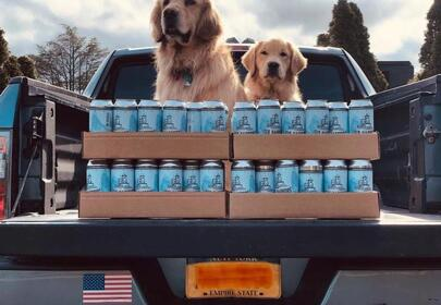 Beer Delivery By Brew Dogs by Six Harbors Brewing Company