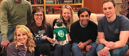 "Doug the Pug joins The Big Bang Theory cast for ""The Big Pug Theory"" parody"