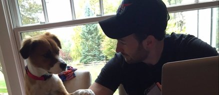 Chris Evans' dog Dodger serenades him with the Lion King soundtrack