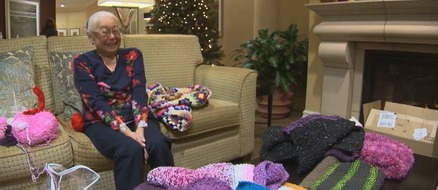 93 Year Old Woman Knits Blankets for Homeless Kittens