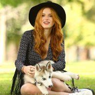 Bella Thorne's pet H&M Husky Shoot