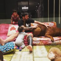 Antonella Roccuzzo and Messi family dog
