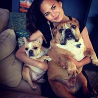 Chrissy Teigen dogs Pooey and Puddy