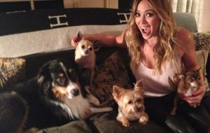 Hilary Duff with her dogs Beau and Dubois