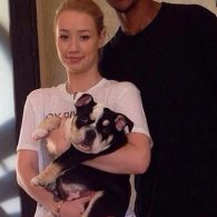 Iggy Azalea's pet Shrinkabull Jam Don't Shake Like That Jelli aka Jelli