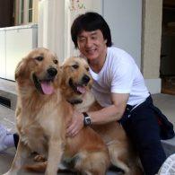 Jackie Chan's pet Jones and JJ