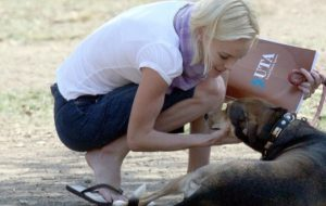 Kate Bosworth with Dog Happy