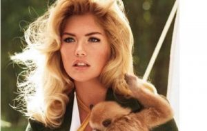 Kate Upton and a Monkey
