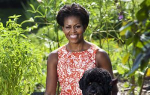 Michelle Obama with Bo
