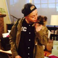 Miley Cyrus' pet Moonie