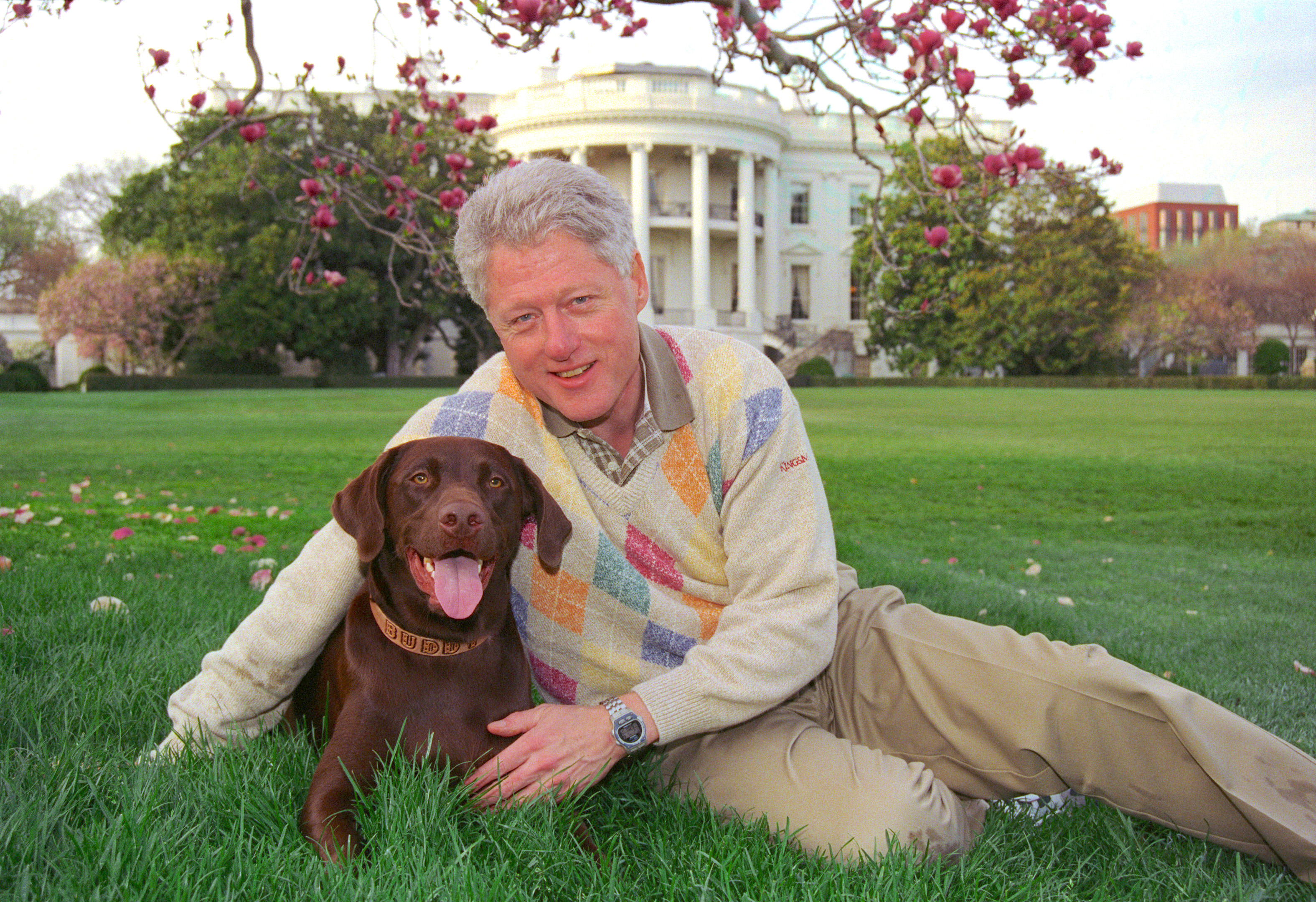 Bill Clinton with Buddy