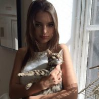 Emily Ratajkowski's pet Tarzan