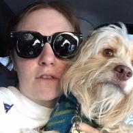 Lena Dunham's pet Lamby Antonoff-Dunham