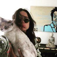 Michelle Rodriguez's pet Coco