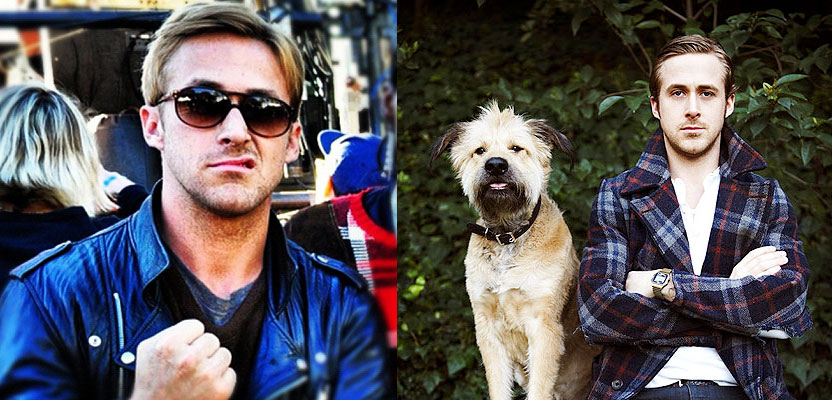 Ryan Gosling and George - dog