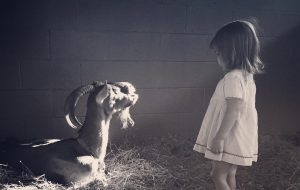 Channing Tatum's daughter Everly and their goat