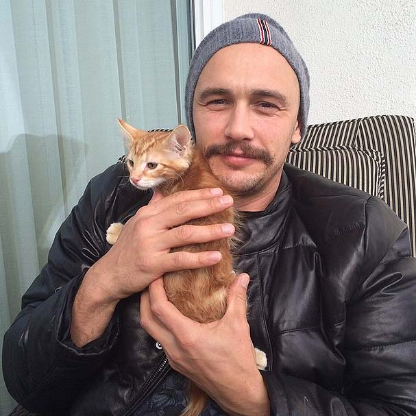 James Franco - cat Sammy