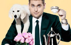 Jonah Hill on SNL with his retriever