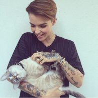 Ruby Rose's pet Cricket