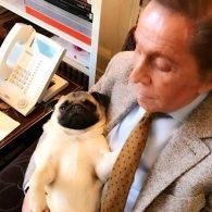 Valentino's pet Maggie