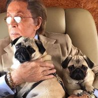 Valentino's pet Margot