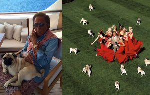 Valentino and his Pugs