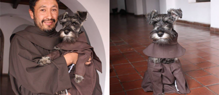 Friar Moustache, Stay Dog to Adopted Monk by a Bolivian Monastery