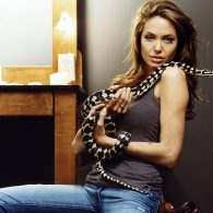 Angelina Jolie's pet Lizards, Snakes, Rats