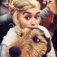 Emilia Clarke's pet Roxy