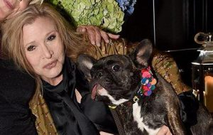 Carrie Fisher - dog - Gary Fisher