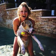 Kaley Cuoco's pet Norman