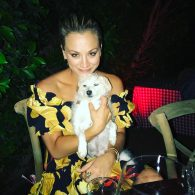 Kaley Cuoco's pet Ruby