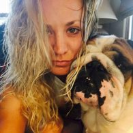 Kaley Cuoco's pet Tank Cook