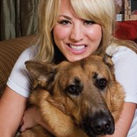 Kaley Cuoco's pet Lucy and Zeus