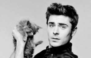 Zac Efron - cat - Simon