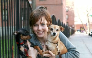 Amy Adams - dogs - Pippy and Sadie