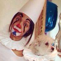 Zoe Saldana's pet Mugsy