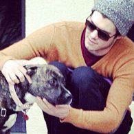 Adam Brody's pet Penny Lane