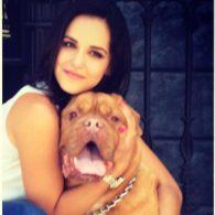 Melissa Fumero's pet Bella