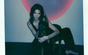 Kendall Jenner and dog Pyro